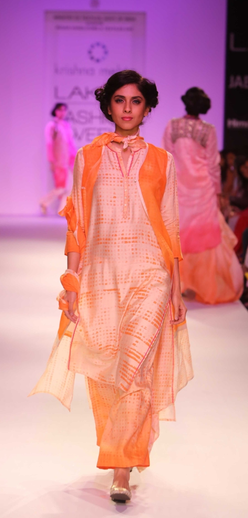 krishna mehta, lakme fashion week winter 2014